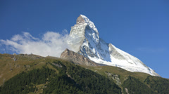 Time lapse air vortices East and North face Matterhorn Stock Footage