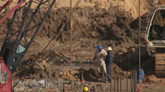 Building site dig 2 Stock Footage