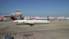 Airplane Taxis at Atlanta Airport - stock footage