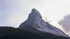 Time lapse view changing mountain colours, Matterhorn, Zermatt - stock footage