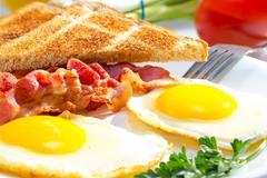 continental breakfast. - stock photo