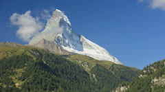 Time lapse cloudscape disappearing slopes Matterhorn, Zermatt Stock Footage