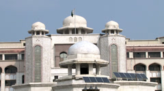 The President House in Islamabad (Vertical Pan) - stock footage