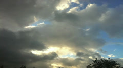 Stock Video Footage of Chaotic Clouds