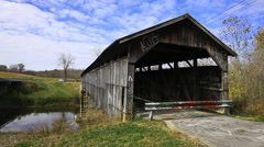 Beech Fork Covered Bridge, Kentucky Stock Footage