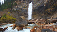 Laughing Falls Yoho National Park Stock Footage