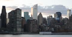 Ultra HD 4K UHD NYC Skyline Manhattan Midtown Skyscraper East River Citigroup Stock Footage