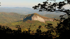 looking glass rock dome autumn mountains appalachia - stock footage