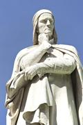 Statue of dante alighieri in verona Stock Photos