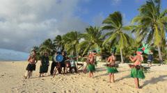 Polynesian Pacific Island Tahitian Dance Group Stock Footage
