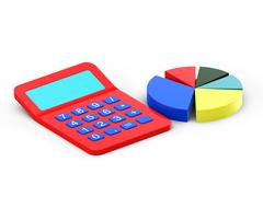 Calculator and diagram Stock Illustration