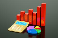 rise chart - stock illustration