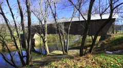 Bennett MIlls Covered Bridge, Kentucky - stock footage