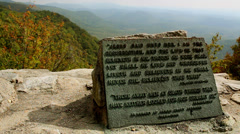 Bible verse on autumn mountain top - stock footage