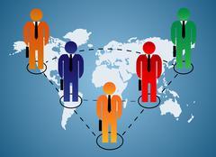 Business relationship global - stock illustration