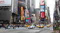 Times Square New York City Morning Day Taxi Yellow Cabs Car Traffic Manhattan HD Footage