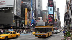 Times Square Broadway Theaters Symbol New York City United States Manhattan Day - stock footage