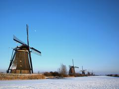 winter in the netherlands - stock photo