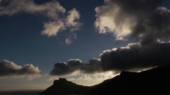Cloud timelapse over mountains Stock Footage