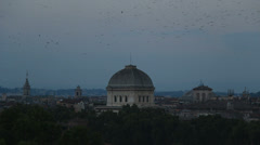 Thousands of starlings over Rome 10 Stock Footage