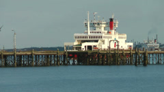Arrival of a Red Funnel Ferry, Southampton, United Kingdom Stock Footage