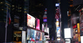 Ultra HD 4K Times Square New York City Illuminated Night Ads Billboard Neon LCD Footage