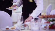 Stock Video Footage of Serving table
