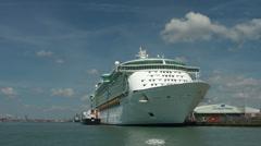 Cruise ship Oriana at the Terminal Southampton, United Kingdom Stock Footage