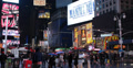 Ultra HD 4K Times Square Illuminated Night Busy Tourist People Intersection Neon Footage