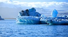 Stock Photo of stunning blue icebergs