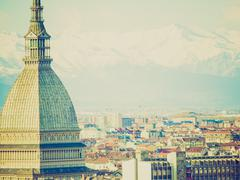 retro look turin, italy - stock photo