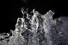 scuplture of ice - stock photo