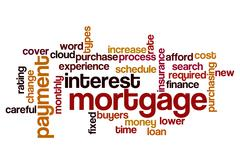 mortgage interest payment concept background - stock illustration