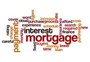 Stock Illustration of mortgage interest payment concept background