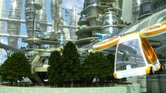 Sci fi city Stock Illustration