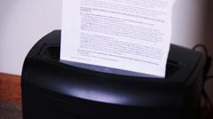 4K Paper Shredder 3765 Stock Footage