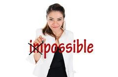 Change impossible to possible Stock Illustration