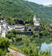 Stock Photo of ambialet (tarn, france(