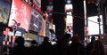 Ultra HD 4K Broadway Famous Street 7 Avenue Illuminated Night NYC People Walking 4k or 4k+ Resolution