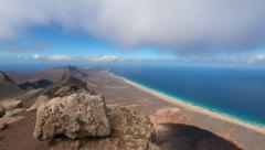 Time lapse panorama view fuerteventura 11188 Stock Footage
