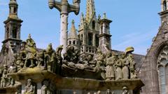 Parish Close (5) - Guimiliau France Stock Footage