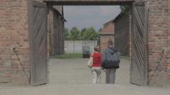 Auschwitz Wall Gate Stock Footage