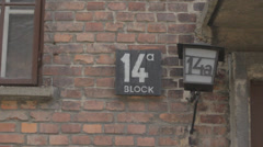 Auschwitz Concentration Camp Blocks Stock Footage