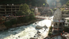 Hot springs in Manikaran, India Stock Footage