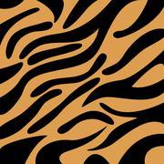 Tiger pattern Stock Illustration