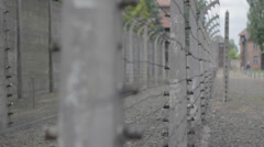 Auschwitz Barbed Wire Fence Stock Footage