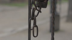 Auschwitz Padlock with Chain Stock Footage