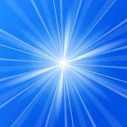 Blue Sunshine - stock illustration