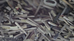 Auschwitz Museum Toothbrushes Stock Footage