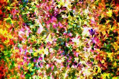 flowery print in color - estampado florido a colores - stock photo